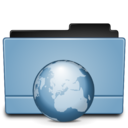 128x128px size png icon of Folder internet