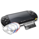 128x128px size png icon of PSP umd and mc