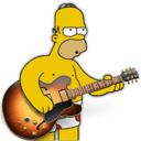 128x128px size png icon of garage band homer