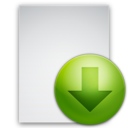 128x128px size png icon of Files Download File