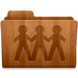 256x256px size png icon of Sharepoint Wood