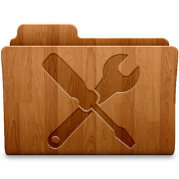 256x256px size png icon of Utilities Wood