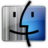 Finder gray blue Icon