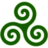 Green Triskele Icon