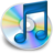 iTunes blauw 2 Icon