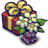 Present Box and Flowers Icon