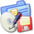 Folder Blue Backups Icon