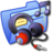 Folder Blue Music 2 Icon