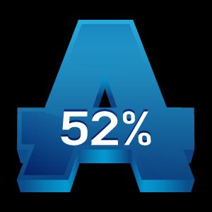 Alcohol Free 52% Alcohol%2052