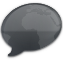 iChat Black World Icon