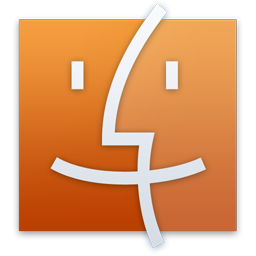 Finder Orange Icon
