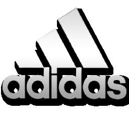White Adidas Logo