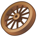 wagon wheel icon free download as PNG and ICO formats, VeryIcon.com