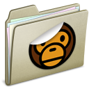 Lightbrown Sticker MILO Icon