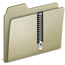 Lightbrown Zip Icon