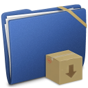 Blue Elastic Drop Box Icon