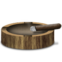 Ash tray and habano Icon