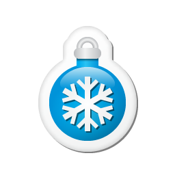 Xmas sticker ball blue Icon