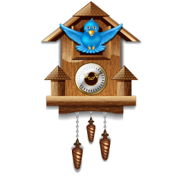 twitter cuckoo clock icon free download as PNG and ICO ...