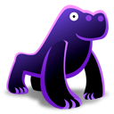 gorilla 128x128 icon free download as png and ico formats