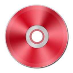 Red Metallic CD icon free download as PNG and ICO formats ...