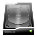 Black InternalDrive Icon