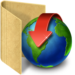 Folder download icon. значок папки загрузки.