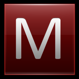 Letter M red M&m Wallpaper