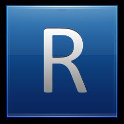 Letter R blue Icon