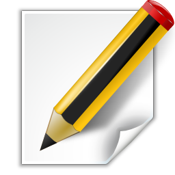 Actions Document Edit Icon Free Download As Png And Ico