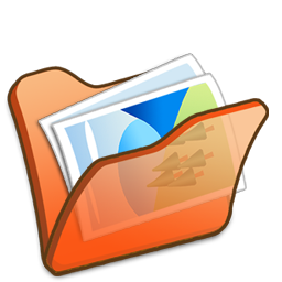 Folder orange mypictures Icon