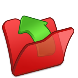 Folder red parent Icon