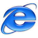 Application Internet Explorer aqua Icon