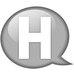 Speech balloon white h Icon