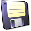 Floppy Disk Black Icon