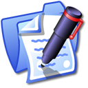 Folder Blue Documents Icon