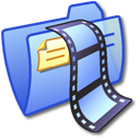 Folder Blue Video 2 Icon